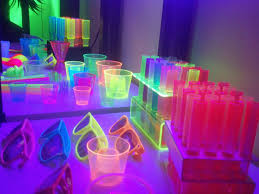 Party Theme Decor Page Of For Baby Shower Neon Glow In Dark Supplies