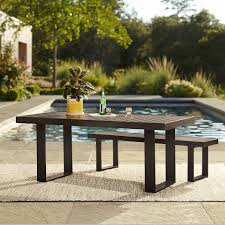 portside aluminum outdoor dining table