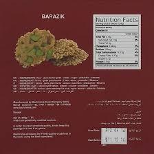 barazek nutritional facts