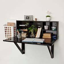 ... Fold Up Wall Mounted Table Utilty Room Mount Build Exam Black Wood Desk  With 92 Unforgettable ...
