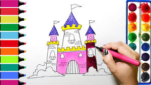 Drawingcolor Draw Color Paint Princess Castle Coloring Pages And Learn Colors