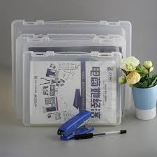 desk office file document paper. Outlet Portable A4 File Box Transparent Plastic Office Supplies Holder Document Paper Protector Desk E