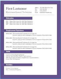Microsoft Word 10 Resume Template Free Resume Templates Downloads