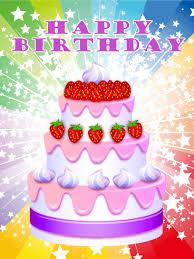 Card Bday Happy Birthday Cake Cards Birthday Greeting Cards By