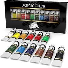 com acrylic paint set 12 x 21ml art paints artists quality myartscape office s