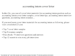 Cover Letter Sample Accounting Accountant Cover Letter Examples