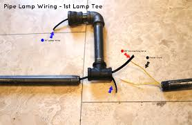 charming diy pipe lamp how to make an industrial pipe floor lamp how about orange