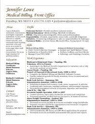 Medical Billing Resume Examples Best Medical Billing Resume Examples Advanced Jennifer Lowe Resume