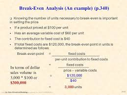 Break Even Analysis - Icmfortaleza.tk