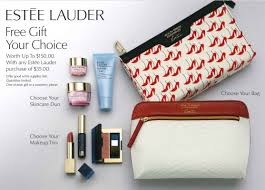 through august 20th and receive a free gift of your choice from estee lauder with any estee lauder purchase of 35 or more see for full dels