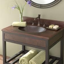 sedona copper bathroom vanity top with sink antique finish
