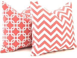 Solid Coral Pillow Shams Coral Colored Pillow Shams Coral Pillow ... & Coral Euro Pillow Shams Coral Colored Pillow Shams Coral Pillows Decorative  Throw Pillow Covers Chevron Pillows Adamdwight.com