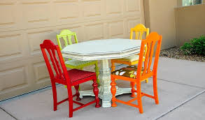 colorful dining room sets. Amazing Picture Of Dining Room Decoration Using Unusual Chairs : Handsome Small Colorful Sets