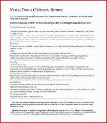 Newspaper Obituary Template Obituary Template Plain 6 Newspaper Obituary Templates Free Sample