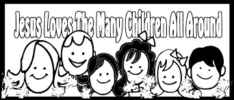 Valentine Coloring Pages Jesus Loves Me With Children Free Library