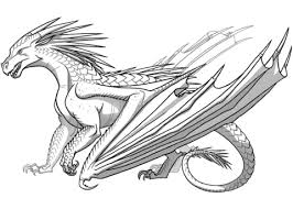 Small Picture Icewing Dragon from Wings of Fire coloring page Free Printable