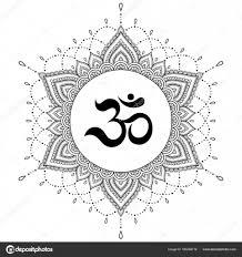 круговой узор в виде мандалы Om декоративные символ менди стиль