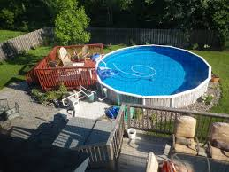 ... Great Image Of Backyard Landscaping Decoration Using Above Ground Deck  Pool Design And Ideas : Artistic ...