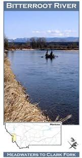 Amazon Com Bitterroot River 11x17 Fly Fishing Map Sports