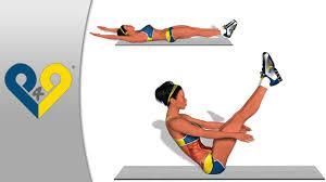 Scissor Kicks Abdominal Exercise From Home  Abdominal AB Bench Ab V Ups