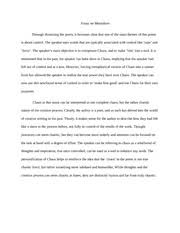 poetry essay poetry essay the poem i will put chaos into 1 pages essay on metaphors