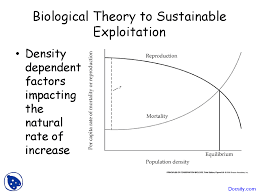 Biological Theory Sustainable Exploitation Introduction To Conservation