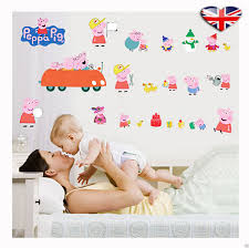 Peppa Pig Bedroom Accessories Peppa Pig Wall Sticker 4 Different Design Characters Kids