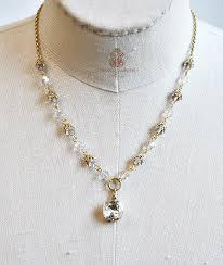 french la glace gold crsytal necklace jpg