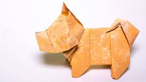 Origami Dog Tutorial Japanese Dog From Paper Youtube