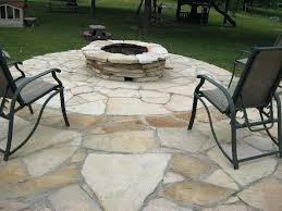 flagstone patio with firepit stone patio and poplar bluff mo diy stone patio and firepit