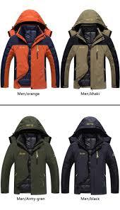 plus size 9 colors waterproof winter jacket men warm 2 in 1 parkas windproof detachable hood