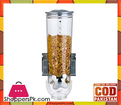wall mount single compact dry food cereal dispenser