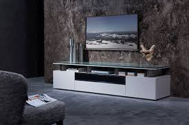 N Plasma And LCD TV Stands Stylish Accessories Grey Lacquer Living Room