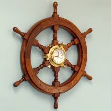 Nautical Decor Incredible Decoration Ship Wheel Wall Decor Shining Handcrafted