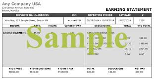 paystub sample check stub maker generate your pay check stubs easily