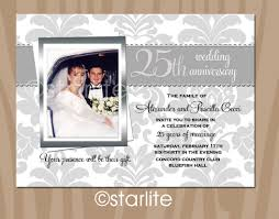 invitation cards for 25thedding anniversary in hindi silver jubilee templates card matter