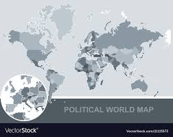 Political Map Of The World Editable Royalty Free Vector