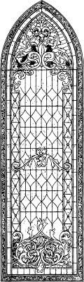 Small Picture Vintage Stained Glass Church Window Graphics Fairy Coloring Page