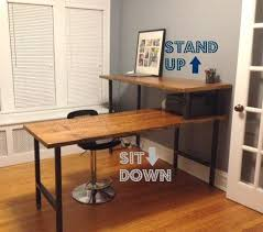 rustic desk home office. L Shape Modern Rustic Desk Made Of Reclaimed Wood. Choose Your Size, Finish, Height Home Office S