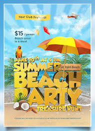 Beach Flyer 27 Amazing Psd Beach Party Flyer Templates Free Premium Templates