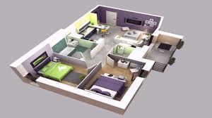 floor plan 3d. House Plan Design 3d 4 Room Floor