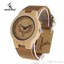bobo bird deer head wooden watch antique genuine cowhide leather band luxury watches bamboo wood quartz wrisch gift box watch