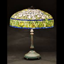 tulip stained glass lamp shade