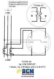 wiring diagrams bay city metering nyc how to wire diagrams 1 stator 3 wire socket w 2 2w cts