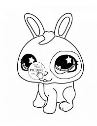 Littlest Pet Shop Cute Bunny Coloring Page For Kids Animal Coloring