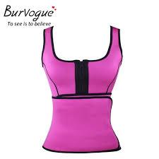 Burvogue Women Neoprene Sauna Vest Body Shaper Waist