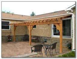 pergola plans attached to house ed diy designs free