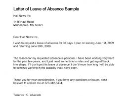 Letter Of Absences Letter Of Leave Of Absence Leave Of Absence Letter