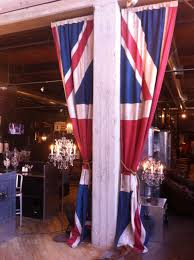 Timothy Oulton Union Jack curtains are a happy thing.