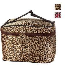 2017 hot leopard print cosmetic bags women travel makeup bag organizer maleta de maquiagem high quality makeup organizer 0 in cosmetic bags cases from